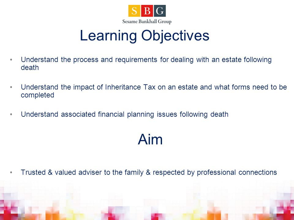 Learning Objectives Aim