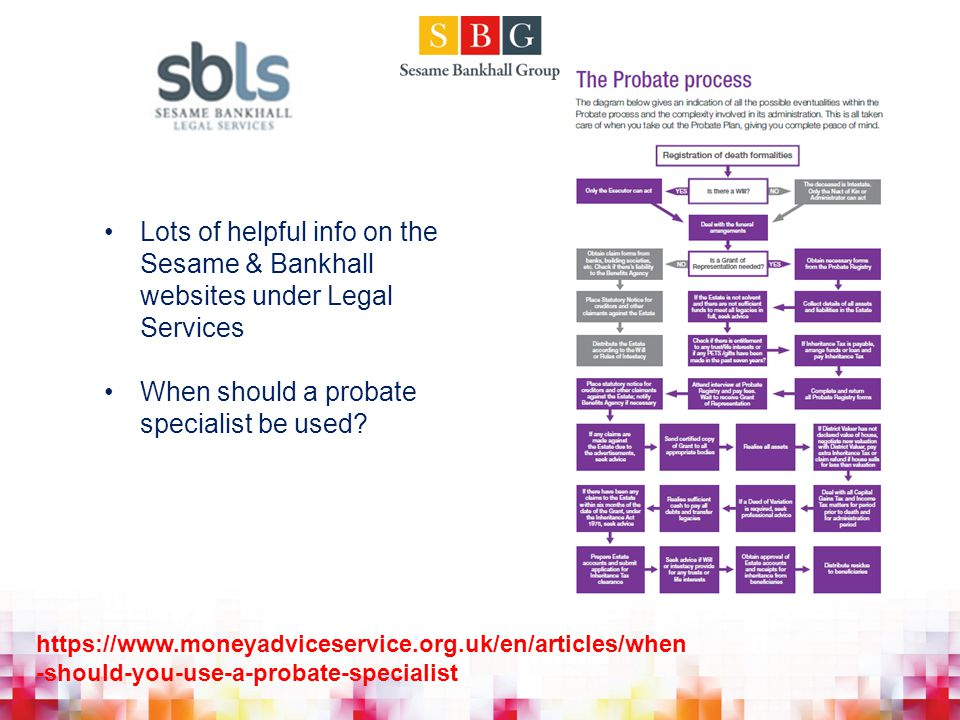 When should a probate specialist be used