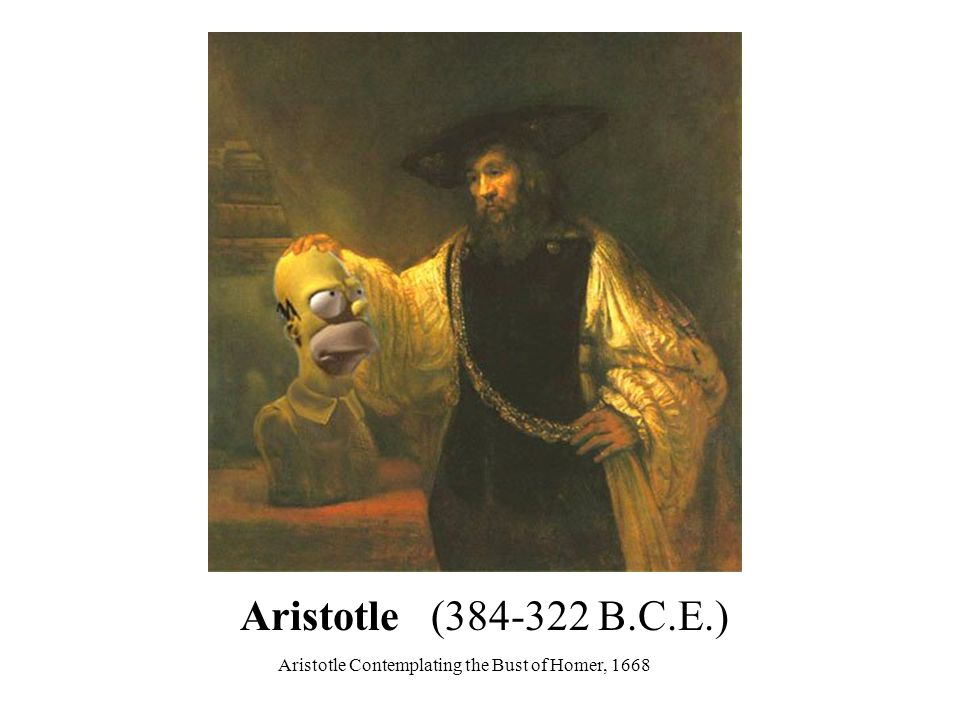 Aristotle Contemplating the Bust of Homer, 1668