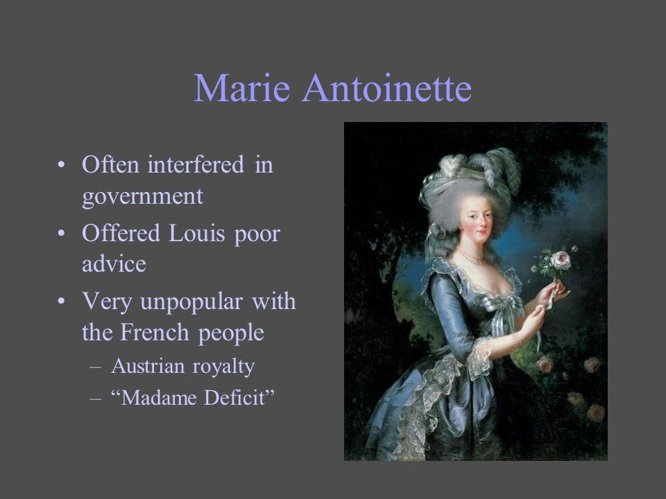 Marie Antoinette Often interfered in government
