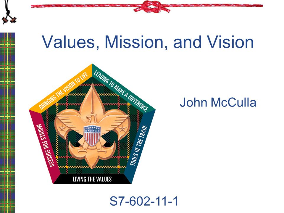 Values, Mission, and Vision