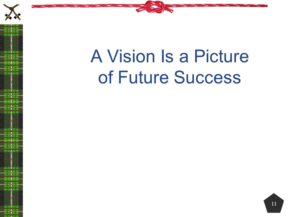 A Vision Is a Picture of Future Success