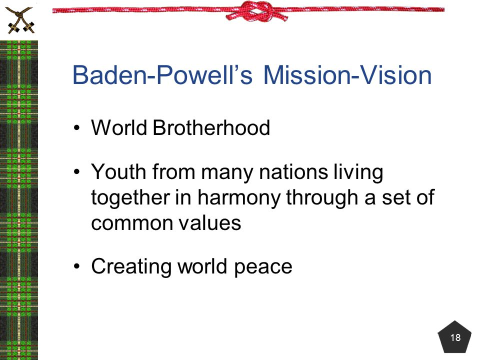 Baden-Powell's Mission-Vision