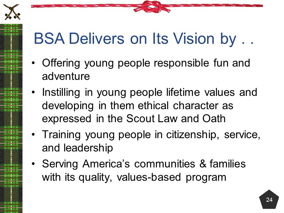 BSA Delivers on Its Vision by . .