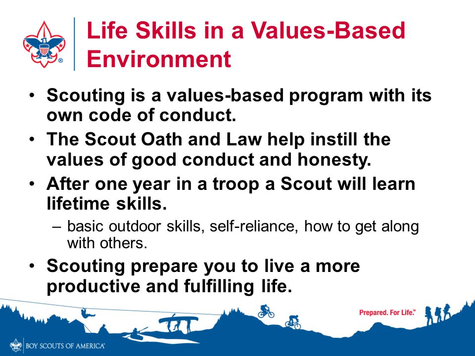 Life Skills in a Values-Based Environment