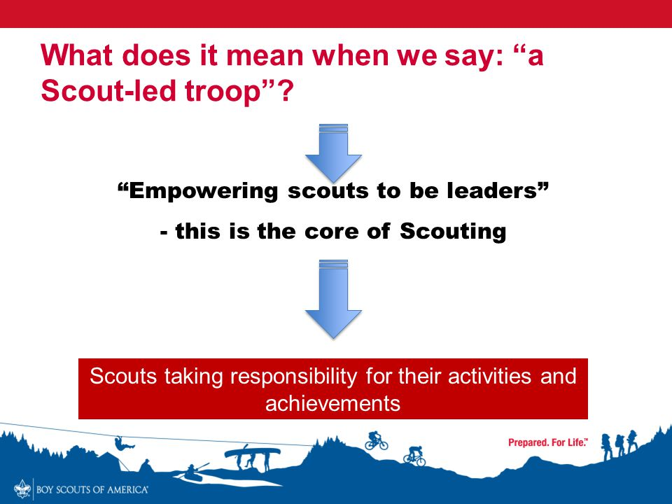What does it mean when we say: a Scout-led troop