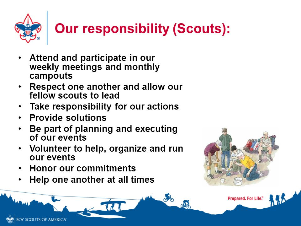 Our responsibility (Scouts):