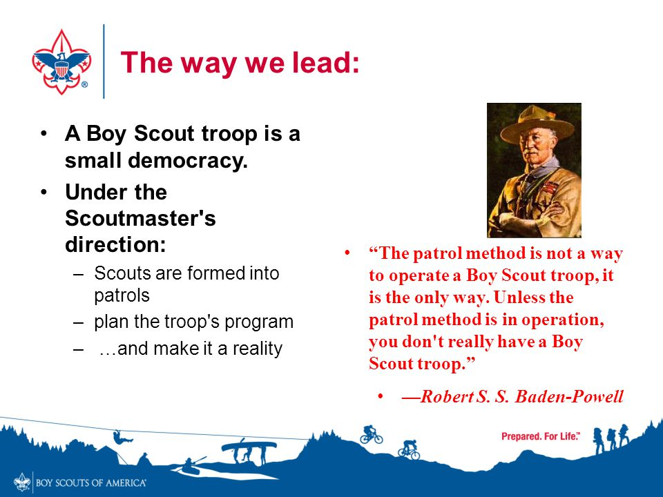 The way we lead: A Boy Scout troop is a small democracy.