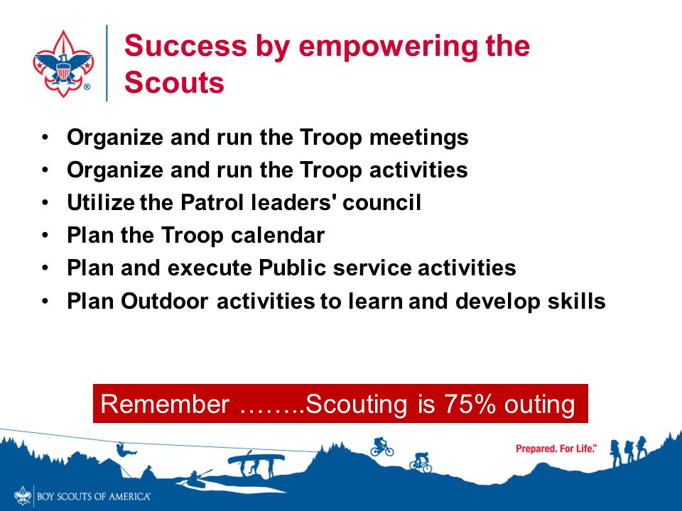 Success by empowering the Scouts