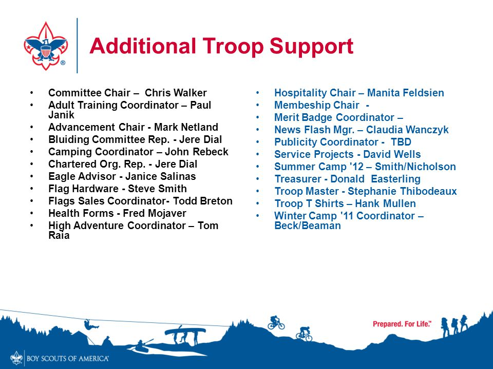 Additional Troop Support