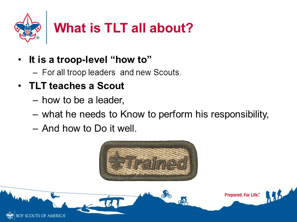 What is TLT all about It is a troop-level how to
