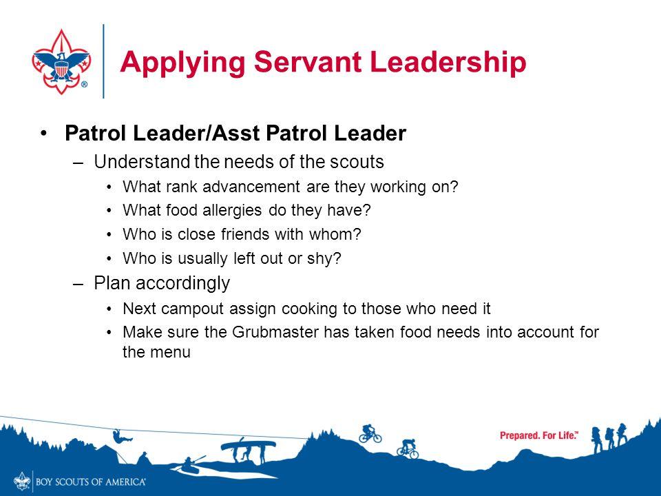Applying Servant Leadership