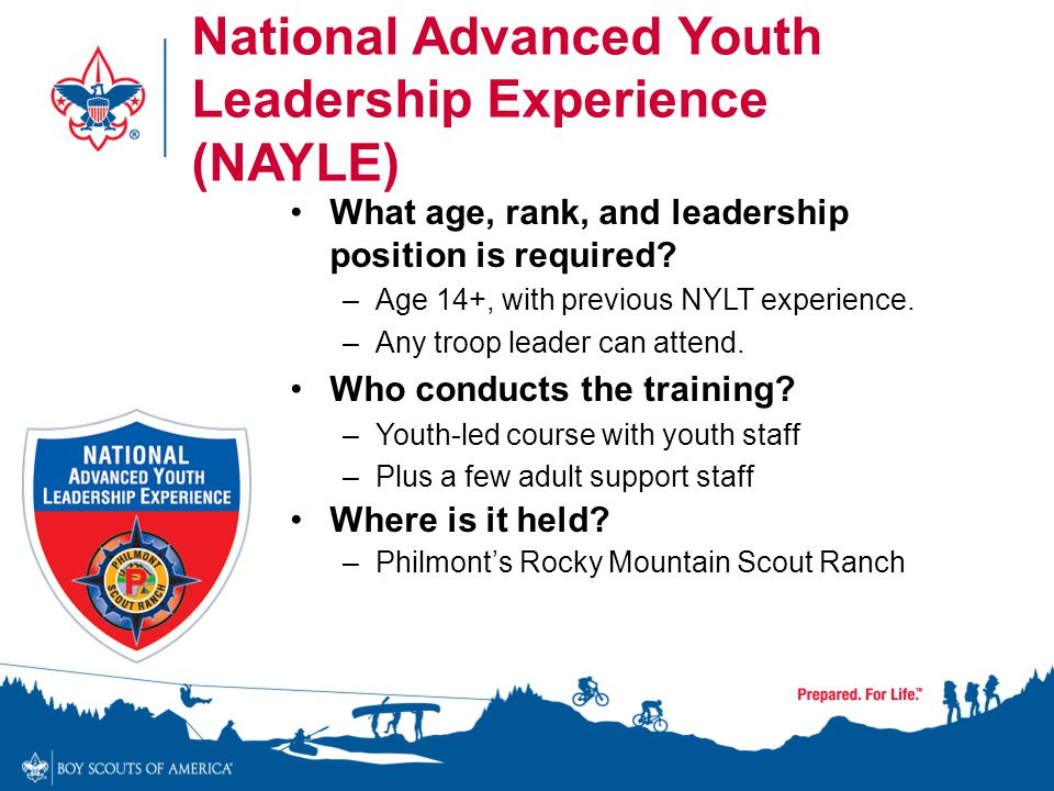 National Advanced Youth Leadership Experience (NAYLE)