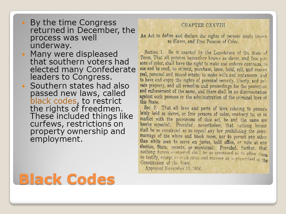 By the time Congress returned in December, the process was well underway.