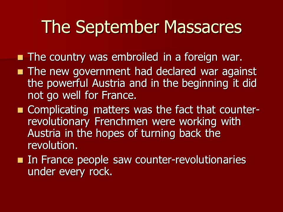 The September Massacres