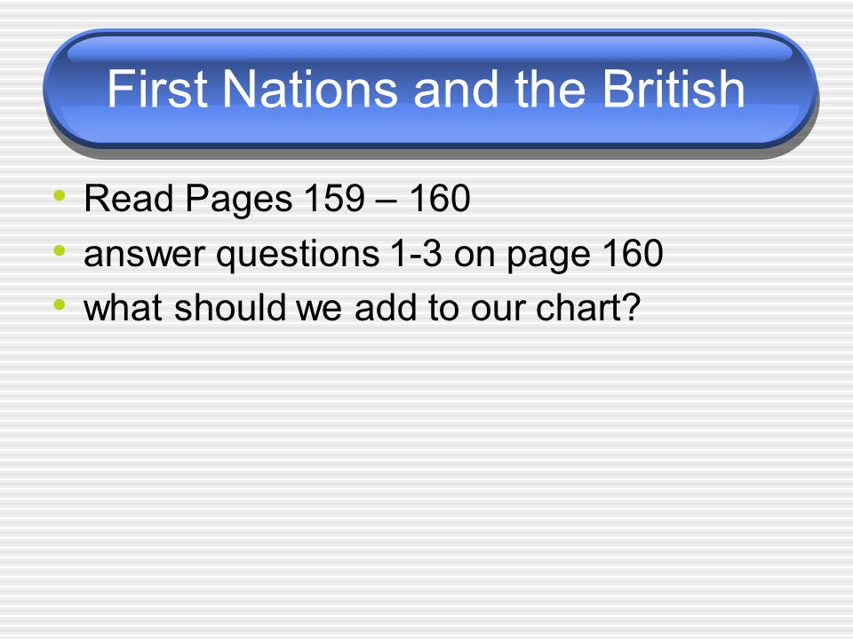 First Nations and the British