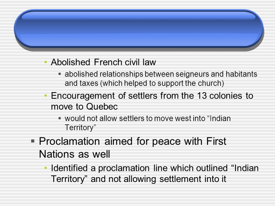 Proclamation aimed for peace with First Nations as well