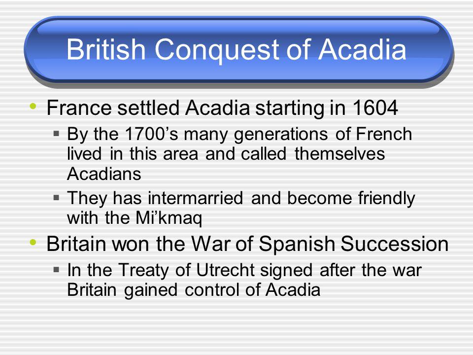 British Conquest of Acadia