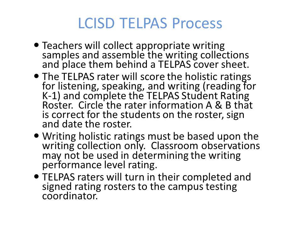 LCISD TELPAS Process