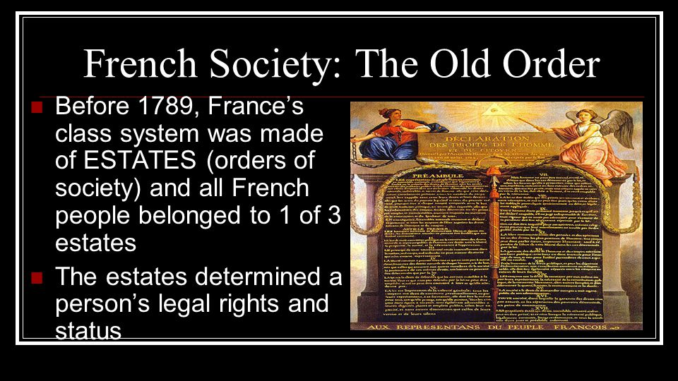 French Society: The Old Order