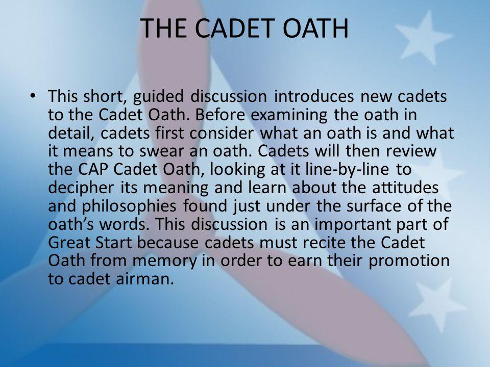 THE CADET OATH