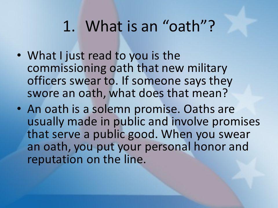 What is an oath