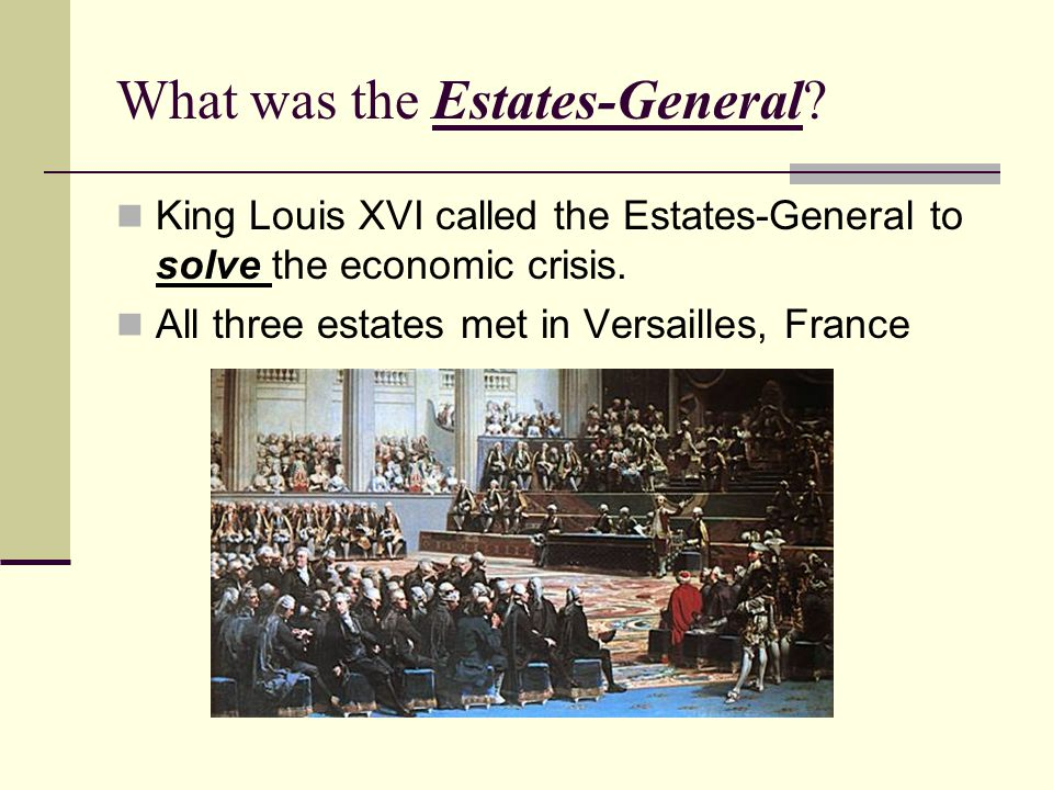 What was the Estates-General