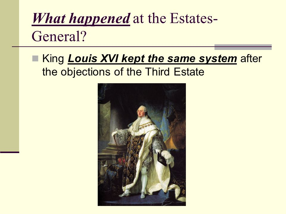 What happened at the Estates-General