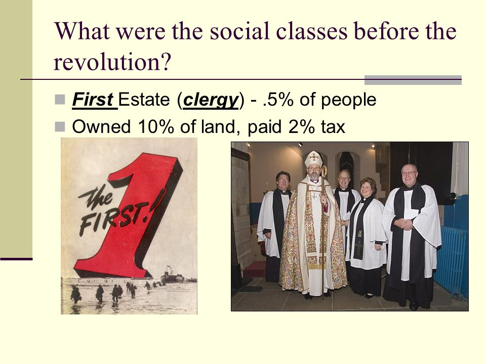 What were the social classes before the revolution
