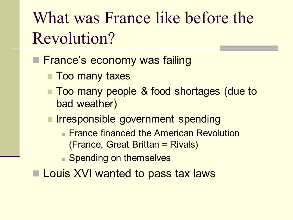 What was France like before the Revolution