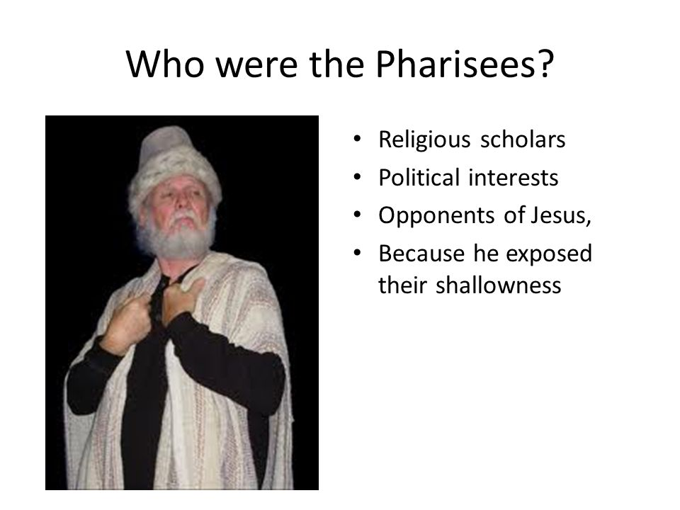 Who were the Pharisees Religious scholars Political interests