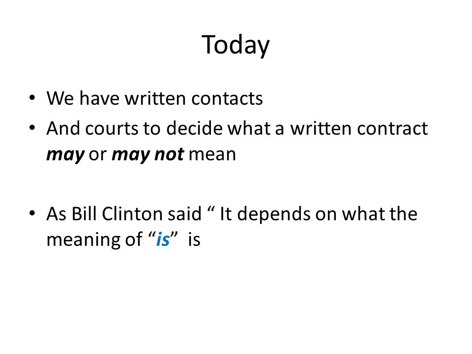 Today We have written contacts
