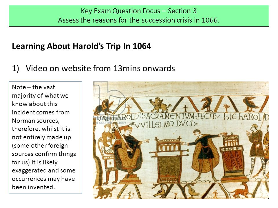 Learning About Harold's Trip In 1064