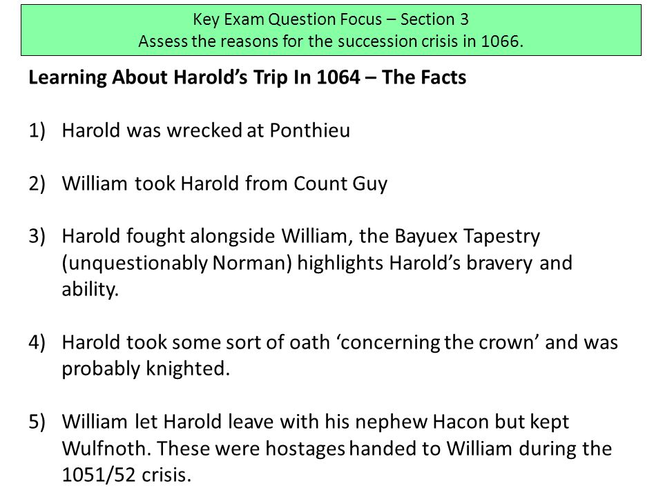 Learning About Harold's Trip In 1064 – The Facts