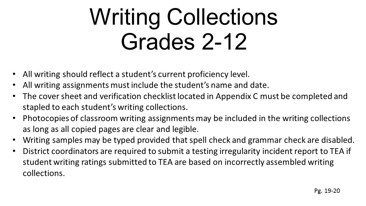 Writing Collections Grades 2-12
