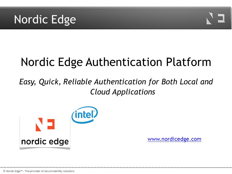 Nordic Edge Authentication Platform