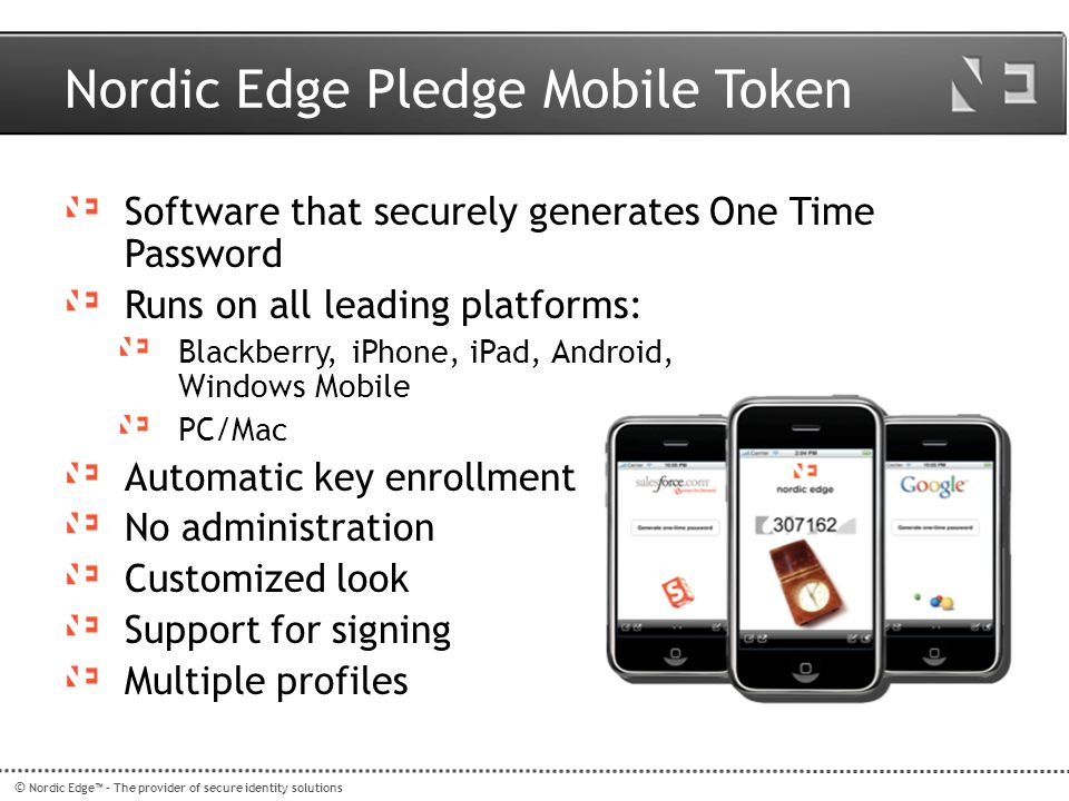 Nordic Edge Pledge Mobile Token