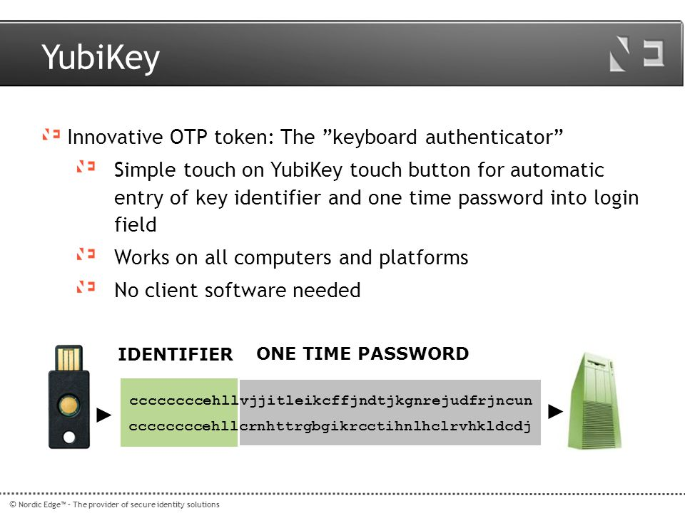 YubiKey Innovative OTP token: The keyboard authenticator
