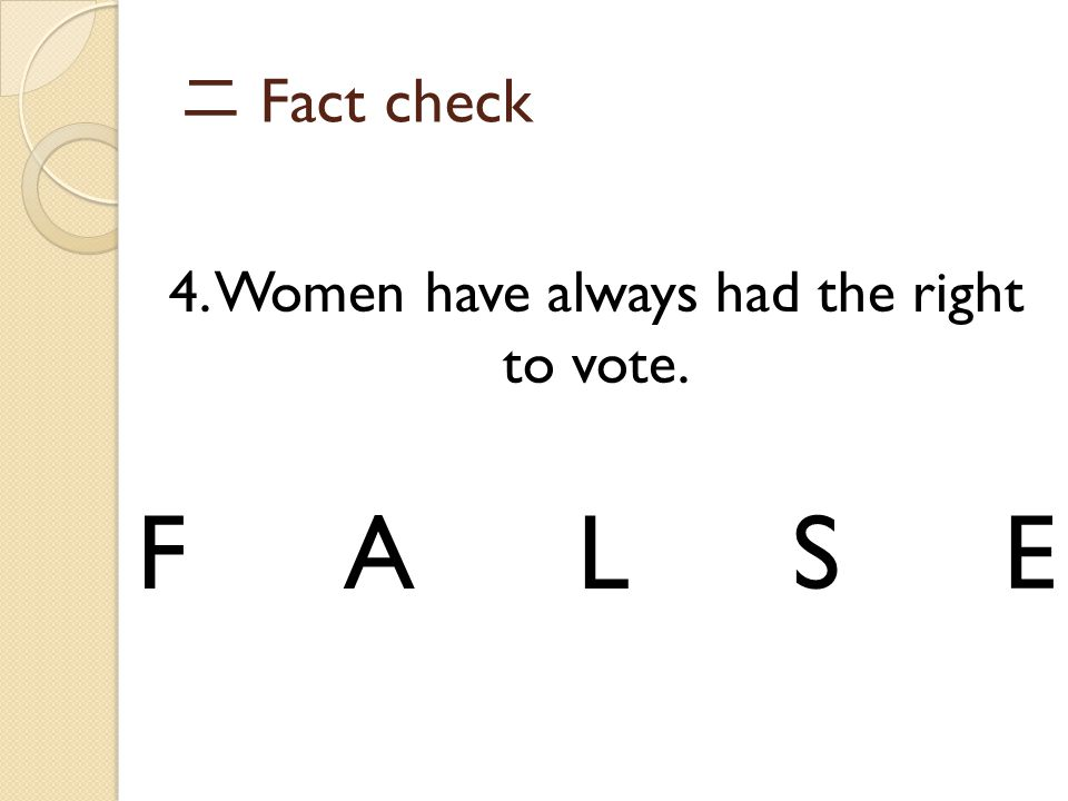 4. Women have always had the right to vote.