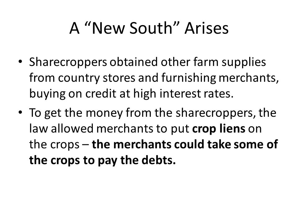 A New South Arises