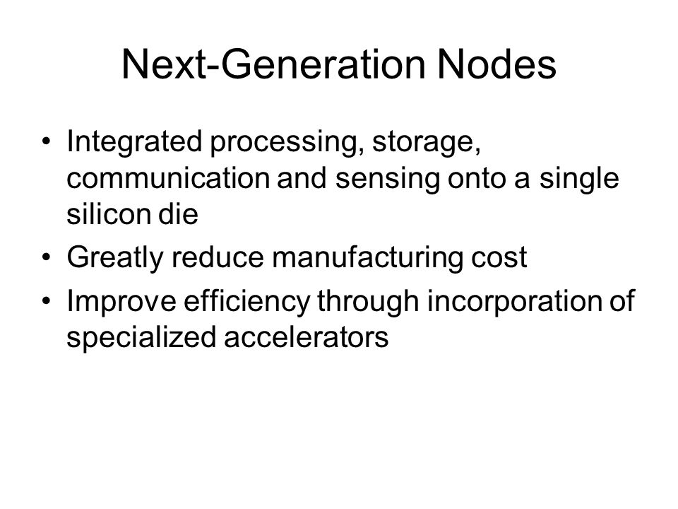 Next-Generation Nodes