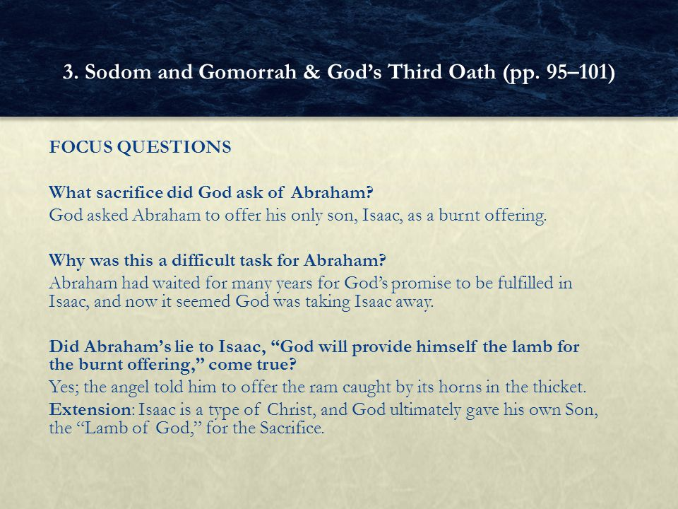 3. Sodom and Gomorrah & God's Third Oath (pp. 95–101)