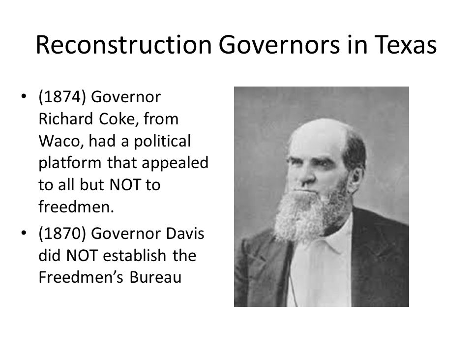 Reconstruction Governors in Texas