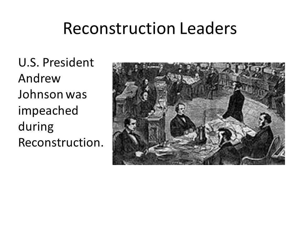 Reconstruction Leaders