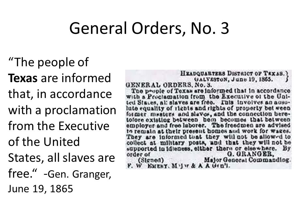 General Orders, No. 3