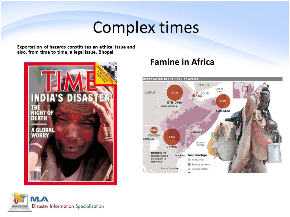 Complex times Famine in Africa