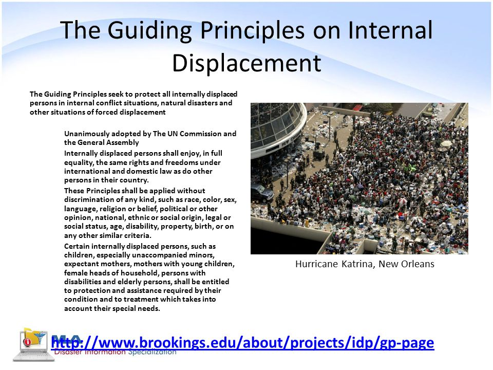 The Guiding Principles on Internal Displacement