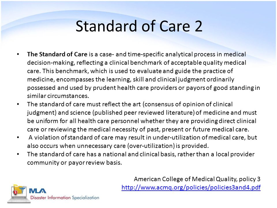 Standard of Care 2