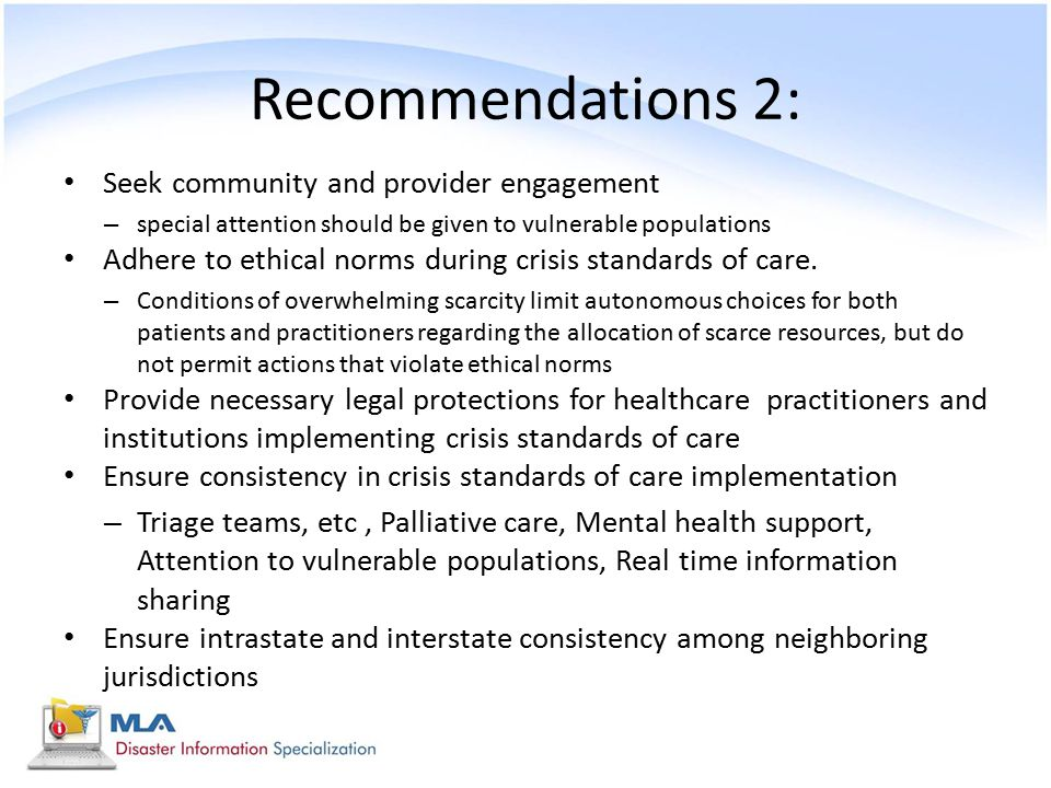Recommendations 2: Seek community and provider engagement