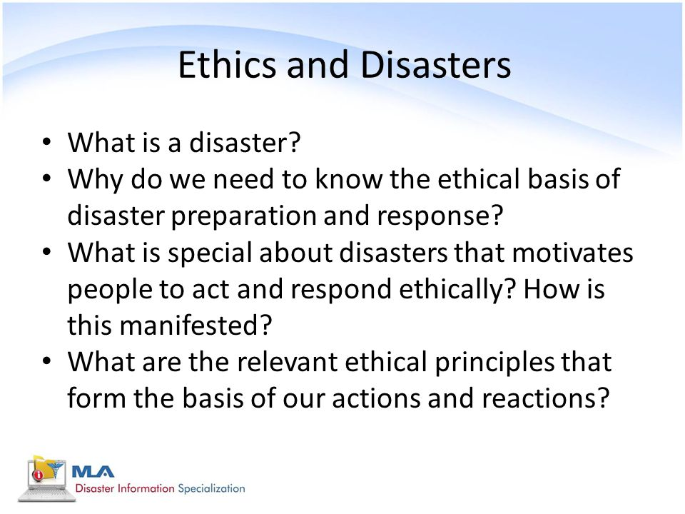 Ethics and Disasters What is a disaster